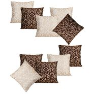 Dekor World Golden Printed Combo. Cushion Cover (Pack of 10)-DWCB-205-16