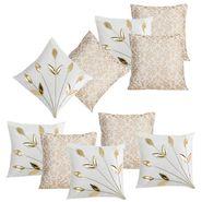 Dekor World Cream Delight Combo. Cushion Cover (Pack of 10)-DWCB-213-12