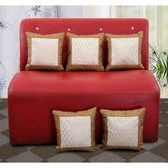 Dekor World Ethnic Zari Pejali Cushion Cover(Pack of 5)-DWCC-12-152-5