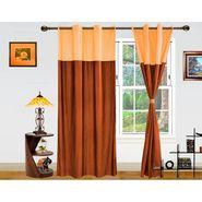 DEKOR WORLD PLAIN BEIGE BROWN EYELET Window Curtain 2 SET-DWCT-270-5