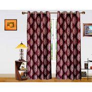 DEKOR WORLD  PURPLE MOOVE BAROQUE  EYELET Window Curtain 2 SET-DWCT-295-5