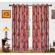 Dekor World Illusion Waves Window Curtain-Set of 2 -DWCT-473-5