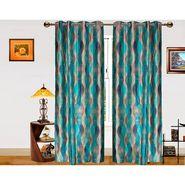 Dekor World Illusion Waves   Window Curtain -Set of 2 -DWCT-578-5