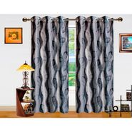 Dekor World 3D Leaf Window Curtain-Set of 2 -DWCT-754-5