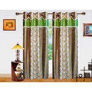 Dekor World Ombre Damask Window Curtain-Set of 2 -DWCT-762-5