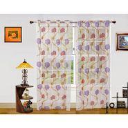 Dekor World Net Floral Window Curtain (Pack of 2)-DWCT-905-5