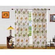 Dekor World Net Floral Window Curtain (Pack of 2)-DWCT-907-5