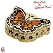 Butterfly Design Metal Multipurpose Box