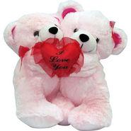 Valentine Stuff ToyTeddy Bear Hugging Teddy With Heart . It Says Very Thing - 20 cms