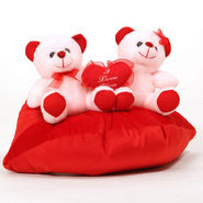 Valentine Made For Each Other Teddy Bear Assorted Colours