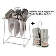 Elegante 18 Pcs. Jasmine Cutlery Set + Free 1 Set Salt & Pepper Set EHPEJASMINSNP0036
