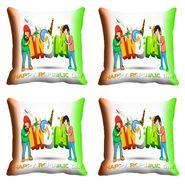 meSleep India Happy Republic Day Cushion Cover (16x16) -EV-10-REP16-CD-050-04