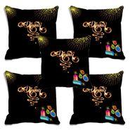 Set of 5 meSleep Digitally Printed Cushion Cover-CD-062