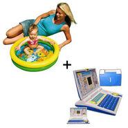 Combo of Educational Learning Laptop For Kids + Swimming Pool GRJI-999
