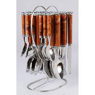 Elegante Viva Designer 24Pcs Cutlery Set with Stand - Brown