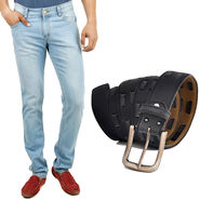 Combo of Cotton Jeans + Casual Belt_D209b207