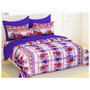 Bedspun 100% Cotton Double Bedsheet With 2 Pillow Cover-FR1414