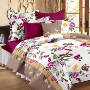 Storyathome 100% Cotton Brown  Single Bedsheet with 1 Pillow Cover-FY1422