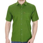 Fizzaro Plain Linen Casual Shirt For Men_Fzls103 - Green
