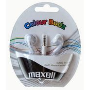 Combo of Maxell - CB-Maxell Stylish Color Budz Earphones - Black + White