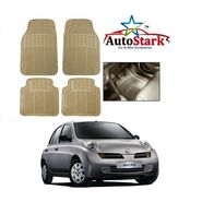 AutoStark - Premium Quality Beige Rubber Car Foot Mat For - Nissan Micra