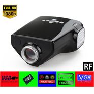 Gadget Hero's UC33+ Mini HD Multimedia LED Projector Black With FREE Nano Tripod Worth Rs 400/-