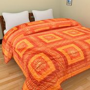 GRJ India Designer Printed Double Bed Quilt-GRJ-DQ-133