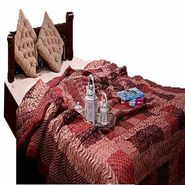 GRJ India Jaipuri Designer Printed  Single Cotton AC Quilt -Razai -Maroon and Brown- PN-Q1-S1-MRNZG