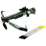 Kids Real Crossbow Action Toy Set with Laser Target and 3 Safe Suction Arrows