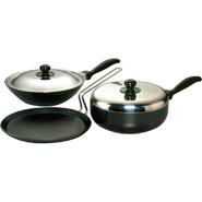 Hawkins Futura 3pcs Nonstick Cookware Set - Black QS4