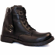 Synthetic Leather Black Boots -bn2