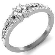 Avsar Real Gold & Swarovski Stone Pune Ring_I070wb