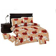 Paras Fashions Bedding Set Of 6 Pcs (1Bedsheet + 2 Pillow Cover + 3 Cushion Cover)-IPFDBS1177