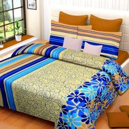 IWS Cotton Printed Double Bedsheet with 2 Pillow Covers-IWS-CB-1015