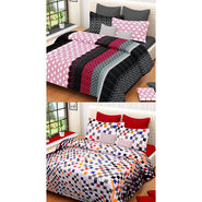 Set of 2 IWS Cotton Printed Double Bedsheet with 4 Pillow Covers-CB1315