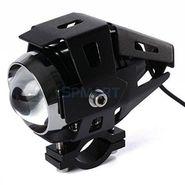AutoSun U5 LED Super Power Spot Beam Light Fog Lamp for Royal Enfield 500 Twinspark (Black, Set of 2)