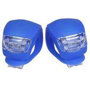AutoSun Waterproof Super Frog LED Bicycle, Bike Head Light Headlamp Headlight- 3 Different Modes / Steady (2 Piece) (Blue)