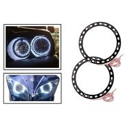 AutoSun White Angel Eyes SMD LED Ring Light Devil Light (set of 2)