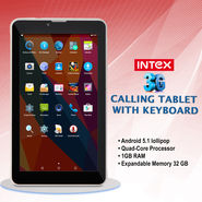 Intex 3G Calling Tablet with Keyboard