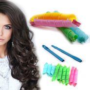 Kawachi 16pcs Large Spiral Hair Rollers Tool Kit