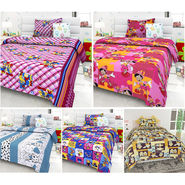 Set Of 5 Kids single Bedsheet With 5 Pillow Cover-KZ_1409_06