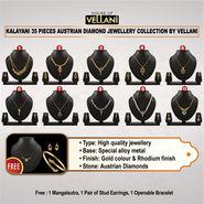 Kalayani 35 Pieces Austrian Diamond Jewellery Collection by Vellani