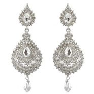 Kriaa Austrian Stone Drop Earrings - White _ 1300919