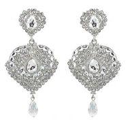 Kriaa Austrian Diamond Drop Earrings - White _ 1300920