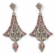 Kriaa Austrian Diamond Earrings - Pink _ 1301312