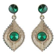Kriaa Austrian Stone Earrings - Green _ 1301415