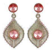 Kriaa Austrian Stone Earrings - Pink _ 1301419
