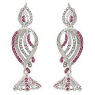 Kriaa Austrian Diamond Earrings - Pink _ 1301433