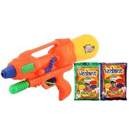 Holi Orange Water Pichkari Shape Squirter Wg6 With Gulal WG6 - 2VHG