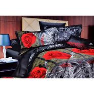 4D Printed  Double Bed Sheet With 2 Pillow Cover- M-023
